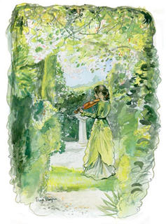 Violin in the Garden